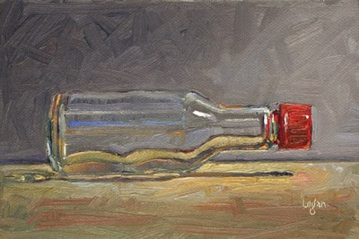 """Soy Sauce Bottle"" original fine art by Raymond Logan"