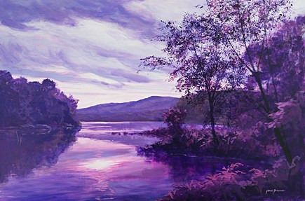 """Violet Reflections"" original fine art by Jamie Williams Grossman"