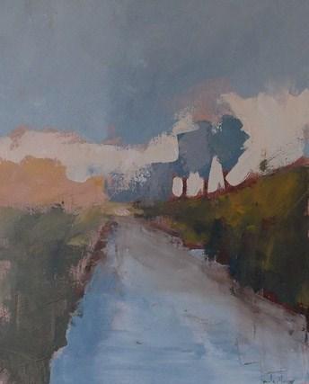 """""""Canal at Dusk"""" original fine art by Pamela Munger"""