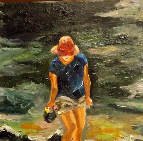 """A lady in the lake,A9"" original fine art by Run-      Zhang Zane"