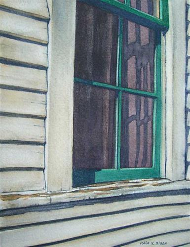 """The Old Window"" original fine art by Kara K. Bigda"
