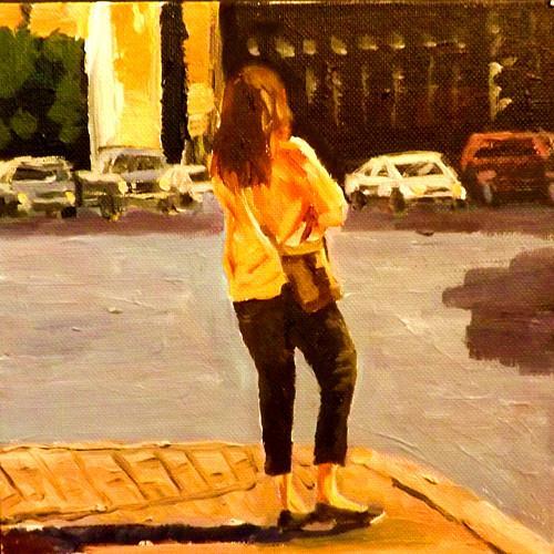 """""""Waiting,1"""" original fine art by Run-      Zhang Zane"""