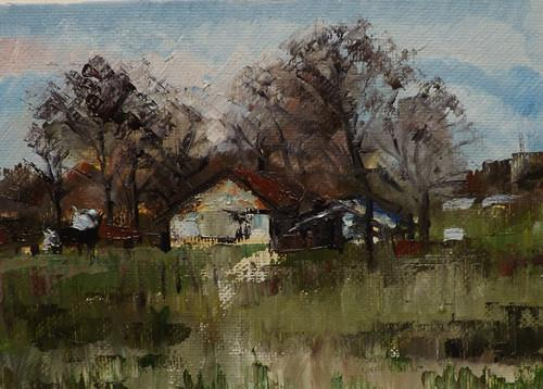 """Landscape,j4"" original fine art by Run-      Zhang Zane"