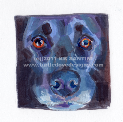 """Squared, A Painted Sketch"" original fine art by Kimberly Santini"
