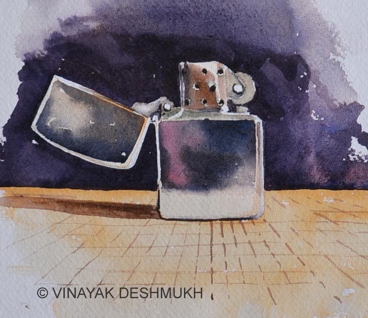 """Lighter"" original fine art by Vinayak Deshmukh"