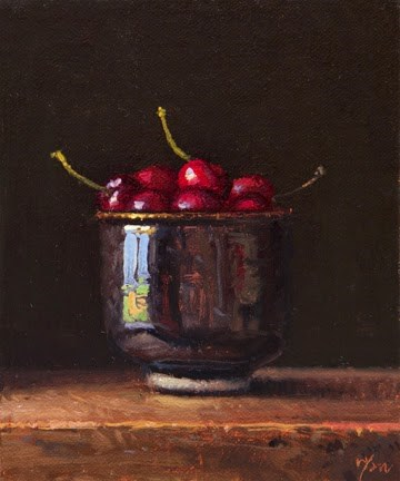 """Bowl of Cherries  (+ Sedona painters)"" original fine art by Abbey Ryan"