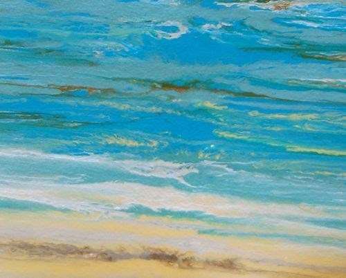 """Abstract Seascape, Ocean Coastal Living Decor, Days of Summer VIII by Colorado Contemporary Artist"" original fine art by Kimberly Conrad"