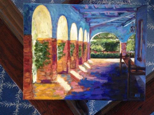 """SAN JUAN CAPISTRANO"" original fine art by Nina K. Nuanes"