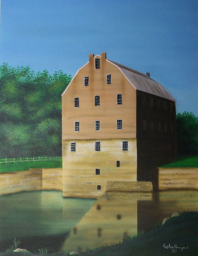 """Bollinger Mill"" original fine art by Fred Schollmeyer"