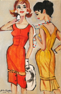 """Sassy Vintage Gals"" original fine art by JoAnne Perez Robinson"