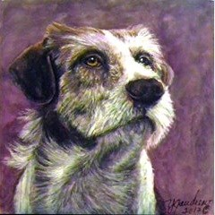 """Miniature Original Painting Jack Russel"" original fine art by Yvette Gaudreau"