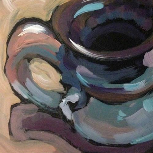 """Hand Thrown Mug"" original fine art by Kat Corrigan"
