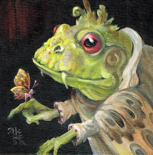 """Happy Landing II"" original fine art by Theresa Taylor Bayer"