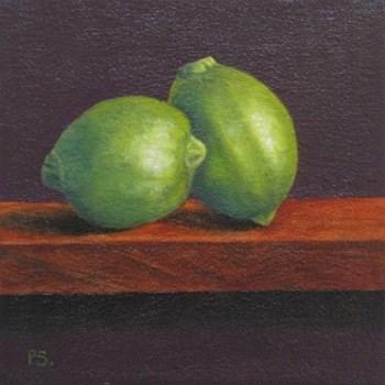 """Limes"" original fine art by Pera Schillings"