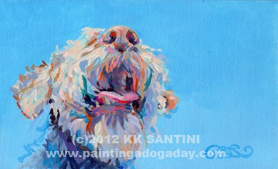 """Blue Skies"" original fine art by Kimberly Santini"