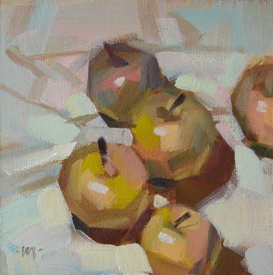 """Vibracolor Apples"" original fine art by Carol Marine"