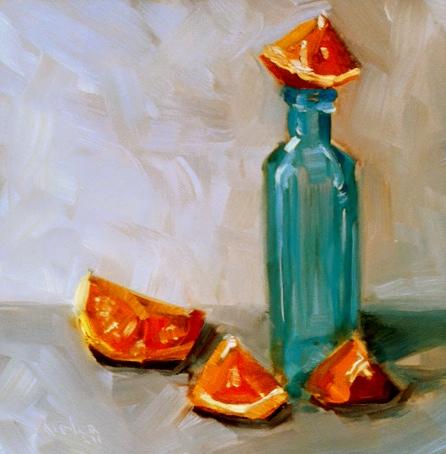 """""""Orange Sugegasa"""" original fine art by Kristen Dukat"""