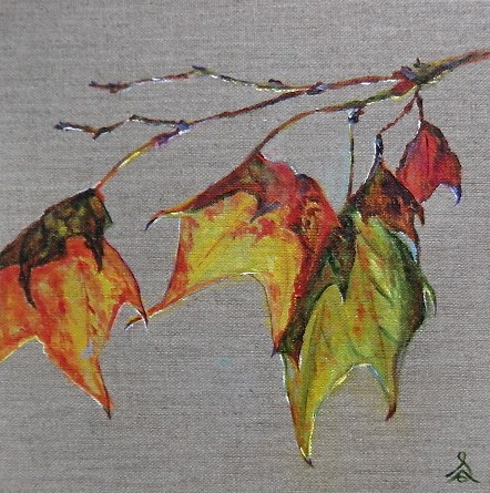 """3248 - Endings and Beginnings, Autumn Leaves"" original fine art by Sea Dean"