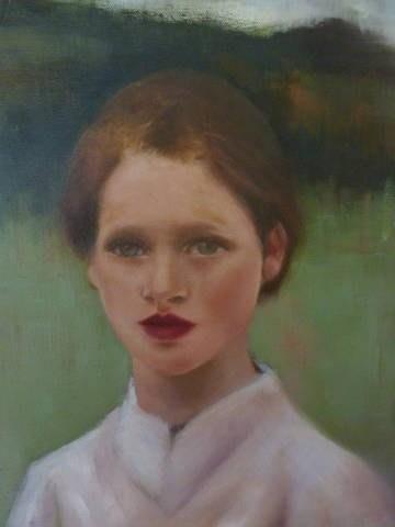 """Lady"" original fine art by Cheryl J Smith"
