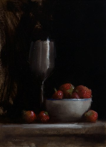 """Strawberries and Goblet"" original fine art by Neil Carroll"