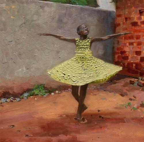 """Dance of Joy"" original fine art by Robin Weiss"