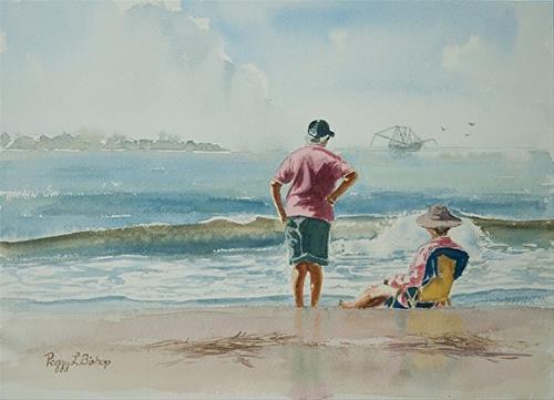 """The Trawler"" original fine art by Peggy Bishop"