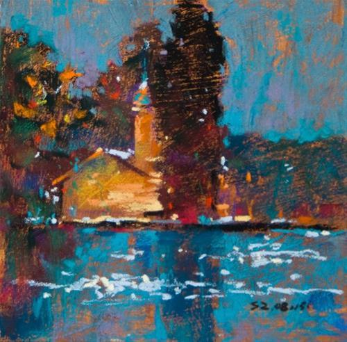 """Reflections in the Pond"" original fine art by Sabrina Zhou"