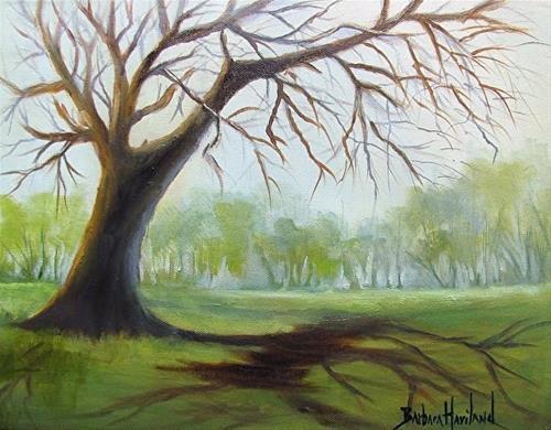 """Tree and Shadows  by Barbara Haviland"" original fine art by Barbara Haviland"