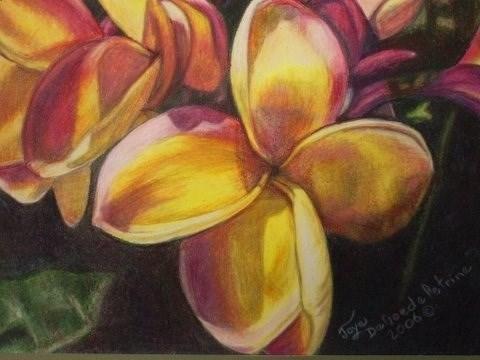 """Plumeria by Joye DeGoede www.Joyesart.com"" original fine art by Joye DeGoede"