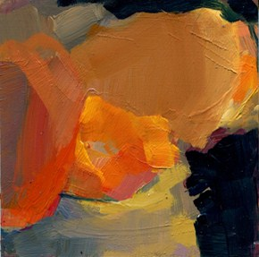 """1219 Orange Glow"" original fine art by Lisa Daria"
