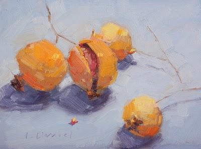 """Winter Fruits"" original fine art by Laurel Daniel"