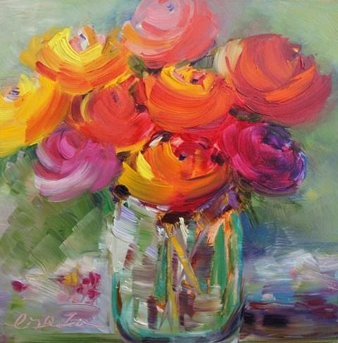 """La vie en rose"" original fine art by Lisa Fu"