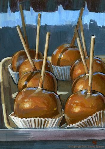 """Caramel Apple, No Nuts"" original fine art by Lesley Spanos"