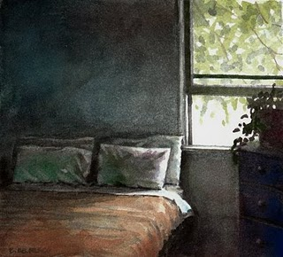 """Watercolor: Respite"" original fine art by Belinda Del Pesco"