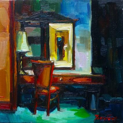 """""""in Hotel"""" original fine art by Jurij Frey"""