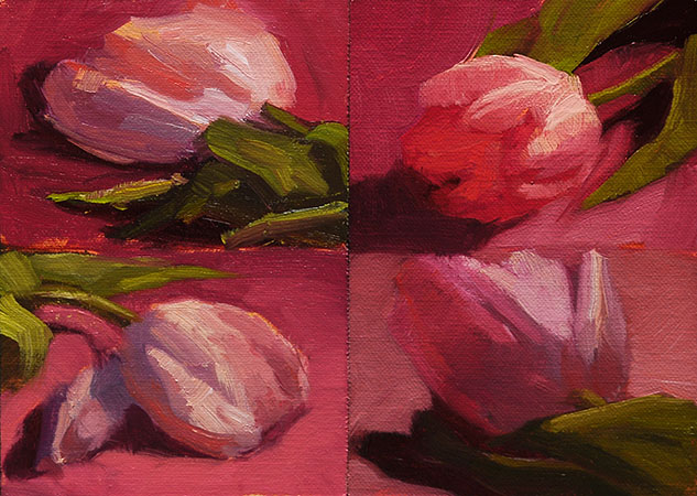 """Lottsa Tulips"" original fine art by Liz Wiltzen"