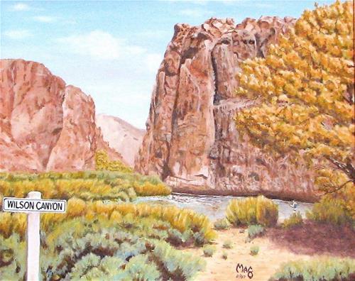 """Wilson Canyon"" original fine art by John F McGowan"