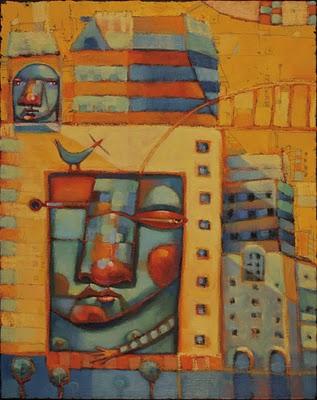 """Urban Cliff Dwellers"" original fine art by Brenda York"