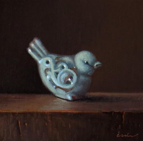 """Bluebird"" original fine art by Darla McDowell"