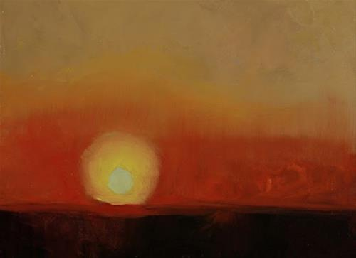 """Abstract Sunset Landscape Art Painting  Sunset #3 by Colorado Artist Susan Fowler"" original fine art by Susan Fowler"