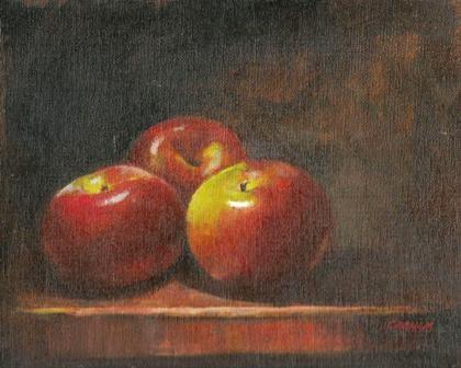 """Macintosh apples"" original fine art by Stuart Graham"