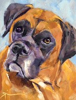 """Louie"" original fine art by Gigi ."