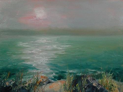 """Morning Haze, 6 x 8 Oil, Landscape"" original fine art by Donna Pierce-Clark"