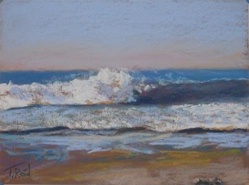 """Shore Waves #2"" original fine art by Toby Reid"