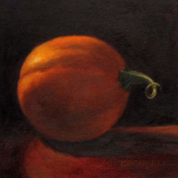 """BABY PUMPKIN by Claire Beadon Carnell 100 Paintings in 100 Days Challenge 'Inspirations from a Back "" original fine art by Claire Beadon Carnell"