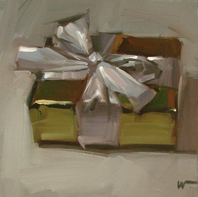 """For Me? --- SOLD"" original fine art by Carol Marine"