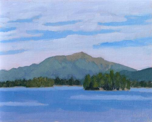 """Katahdin from Twin Pines"" original fine art by Bobbi Heath"