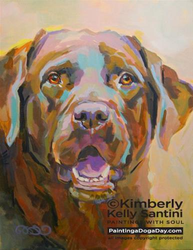 """Reilly"" original fine art by Kimberly Santini"