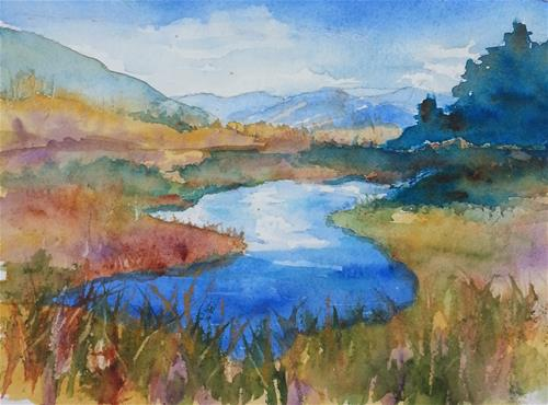 """South Fork I"" original fine art by Becky Chappell"
