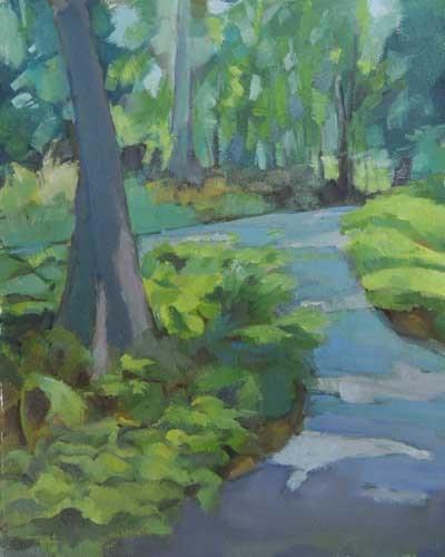 """""""Jenkins_Arboretum."""" original fine art by Merle Manwaring"""
